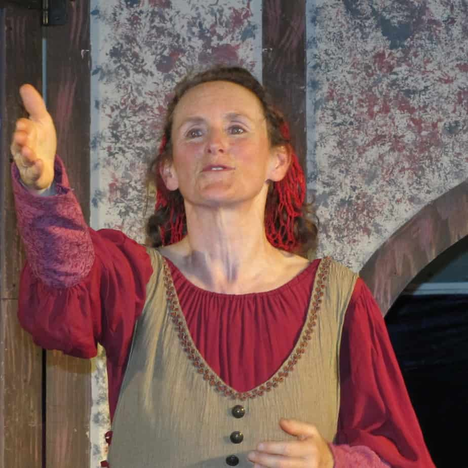 Becky as Host in Canterbury Tales