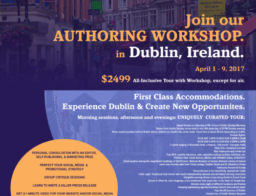 Dublin Ireland Writers Retreat April 1-9, 2017