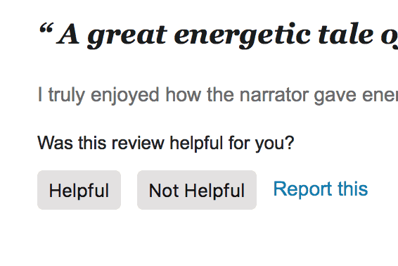 Audible Review Helpful